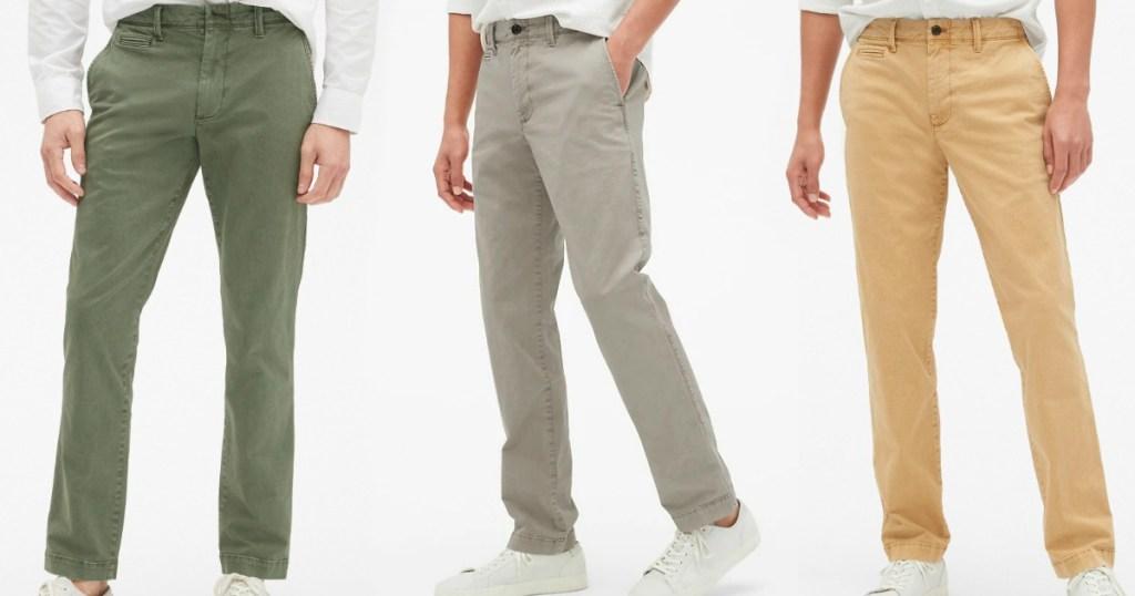 Men's Khaki Pants from the Gap