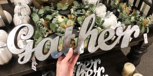Kohl's Cardholders: Gather Galvanized Metal Sign $8 Shipped (Regularly $24) + More