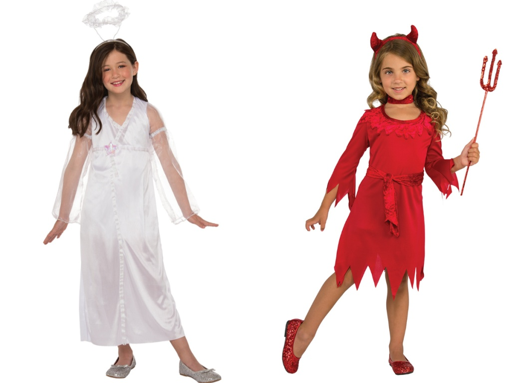 Girls Angel and Devil Costumes
