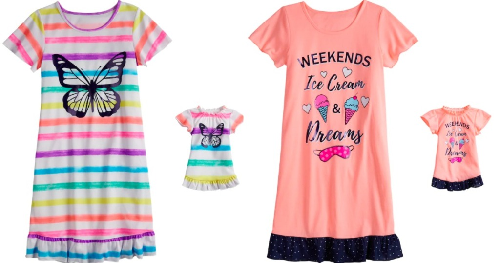kids matching pajama sets from Kohl's