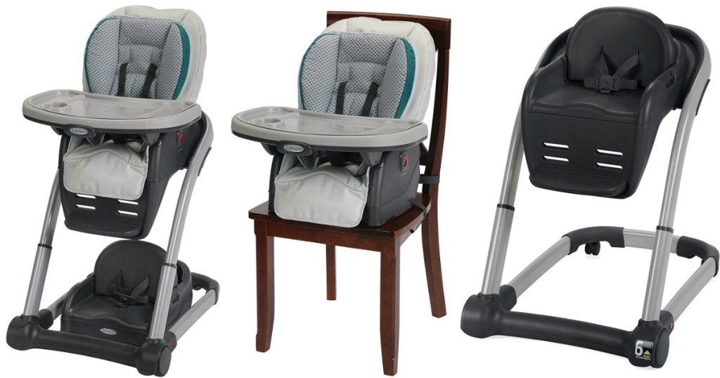 three views of the Graco convertible high chair