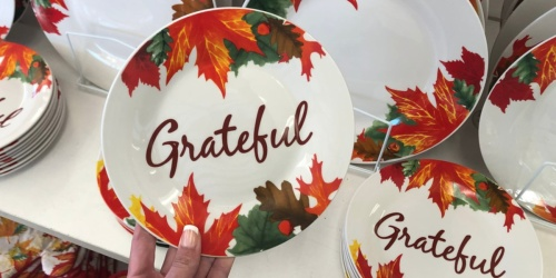 Fall Themed Harvest Tableware Only $1 at Dollar Tree