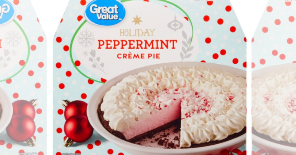 Great Value Peppermint Creme Pie box