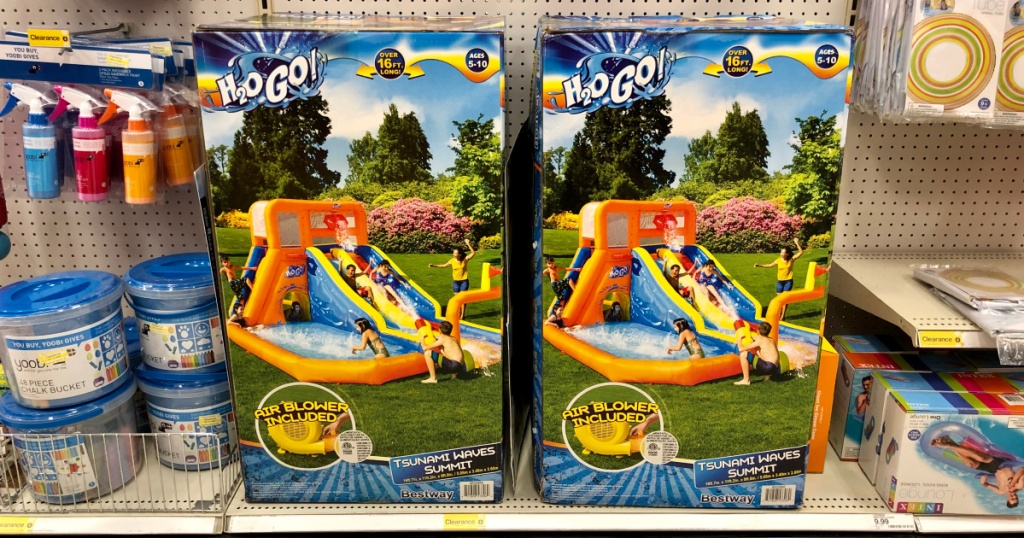 2 boxes of inflatable slide water park at target