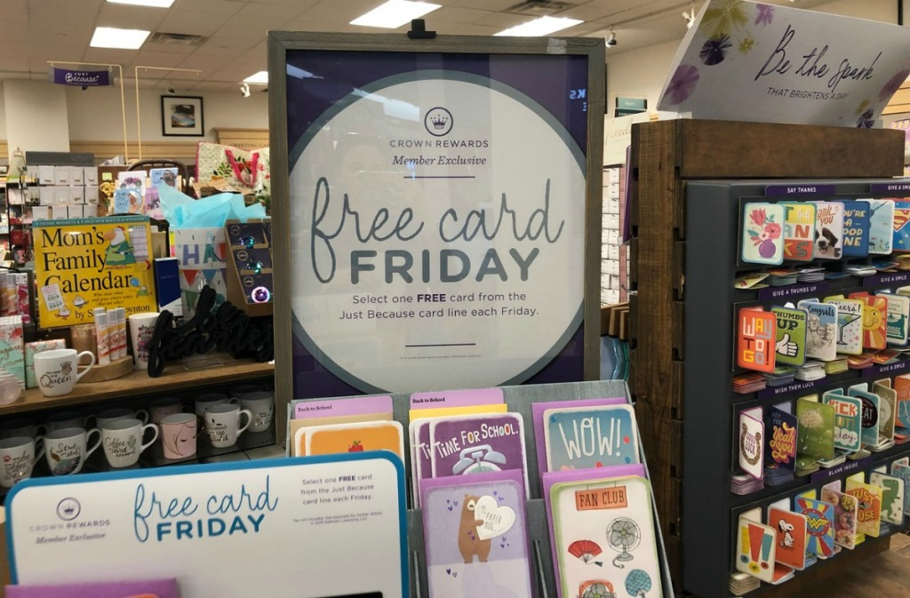 Hallmark Free Card Friday display in-store