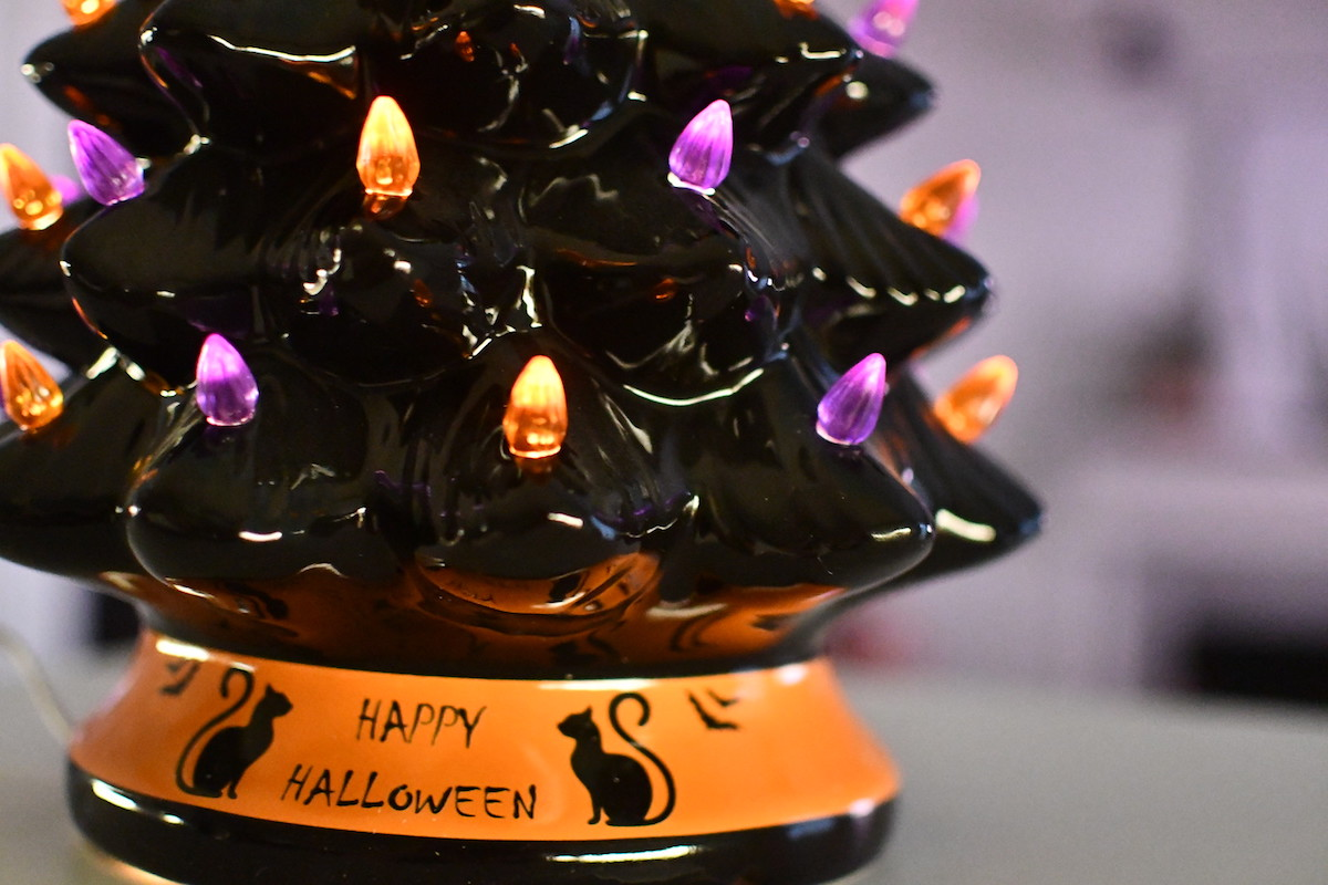 This Pre Lit Ceramic Halloween Tree Is Back In Stock But Will Sell Out Hip2save