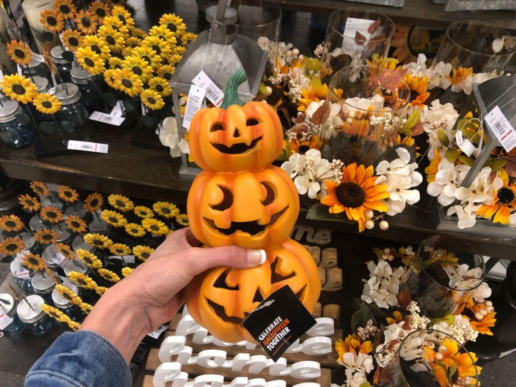 Halloween Jack-O-Lantern Pumpkin Topiary
