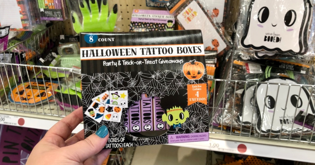 Halloween Tattoo Boxes at Target