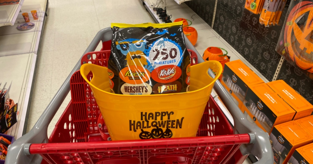 Halloween candy in Target Shopping cart