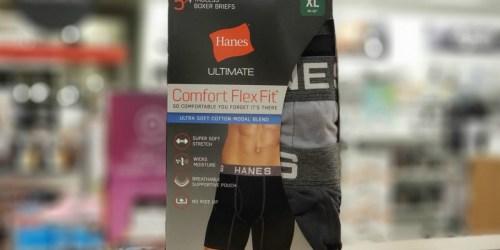 Hanes Men's Boxer Briefs 5-Pack Only $9.99 at Walmart.com (Regularly $25)