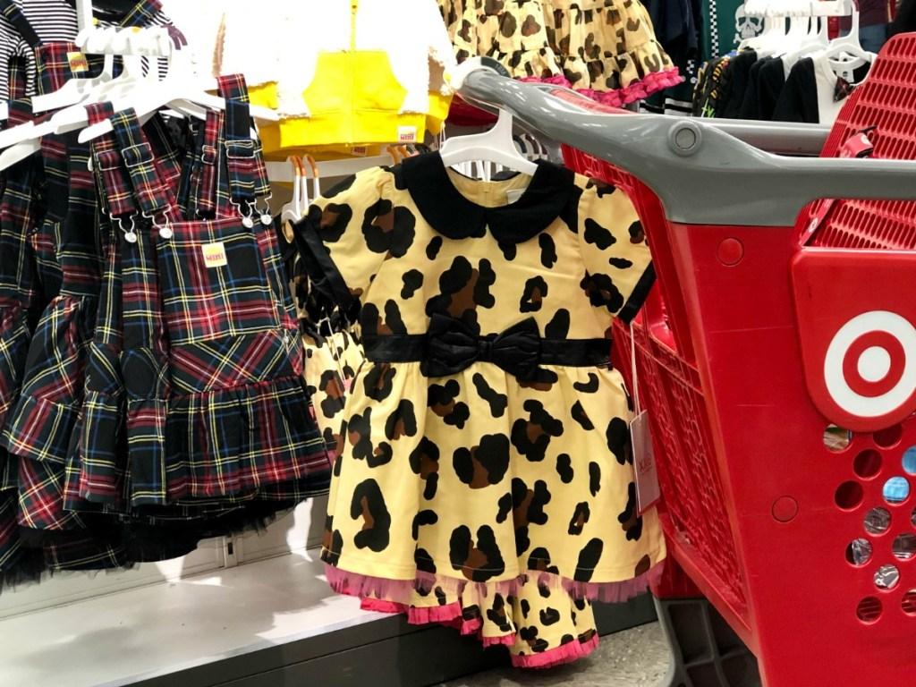 Harajuku Dresses hanging on cart