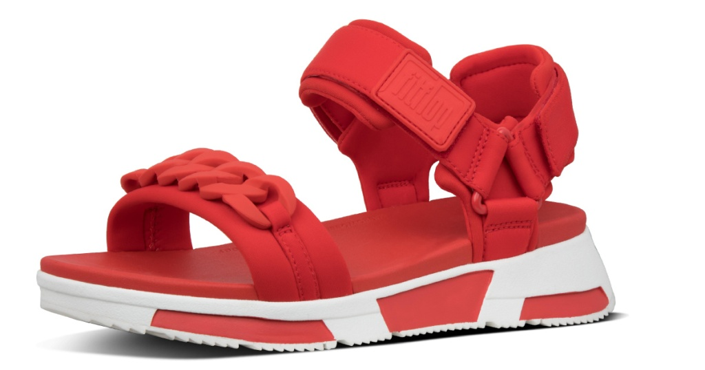 red heda womens sandals
