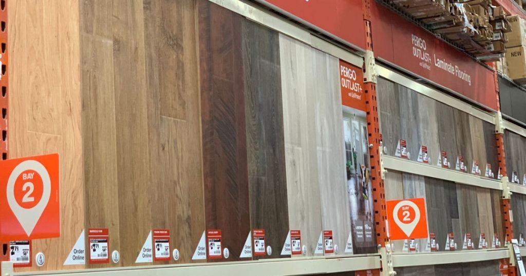 Home Depot Laminate Flooring on display