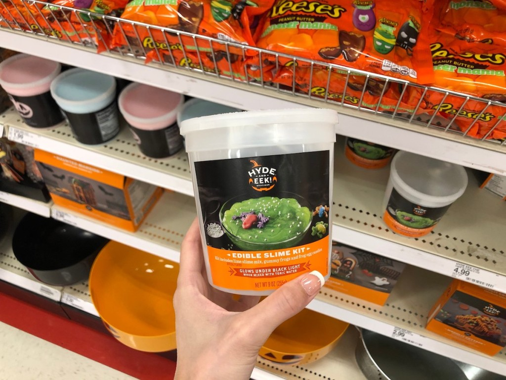 hand holding Hyde & EEK! Boutique Edible Slime Kit