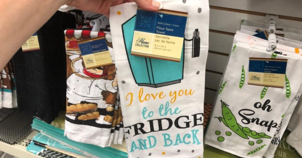 I Love You To The Fridge And Back Dish Towel Dollar Tree