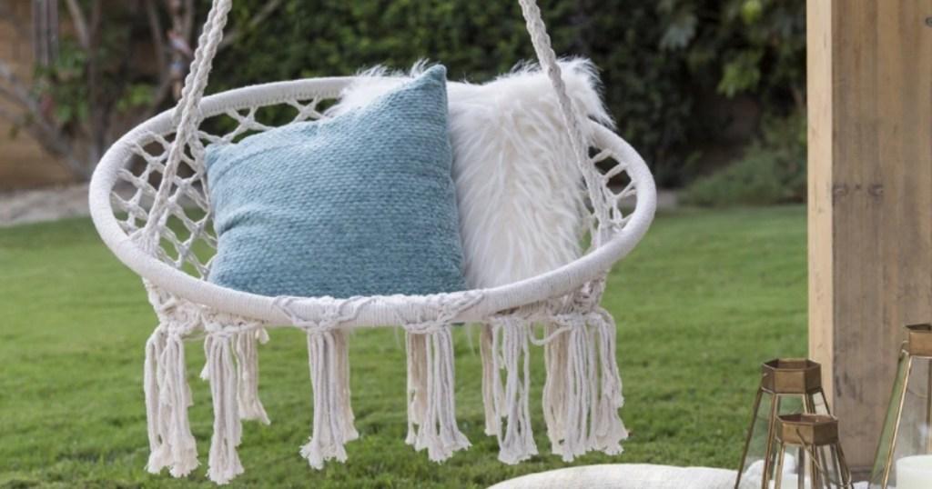 Hanging Cotton Macrame Hammock Swing