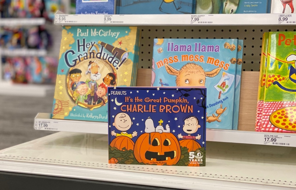 It's the Great Pumpkin, Charlie Brown book on shelf