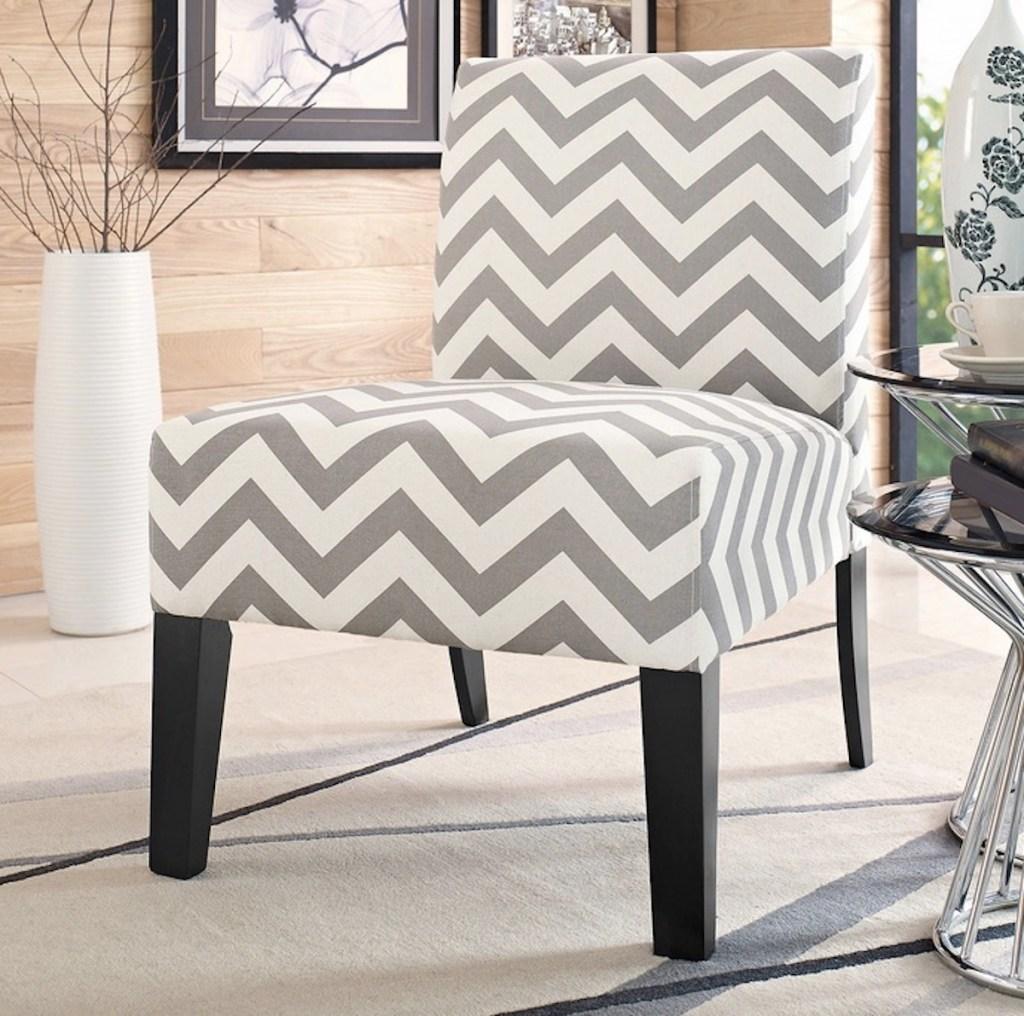 Jane Accent Chair in chevron pattern