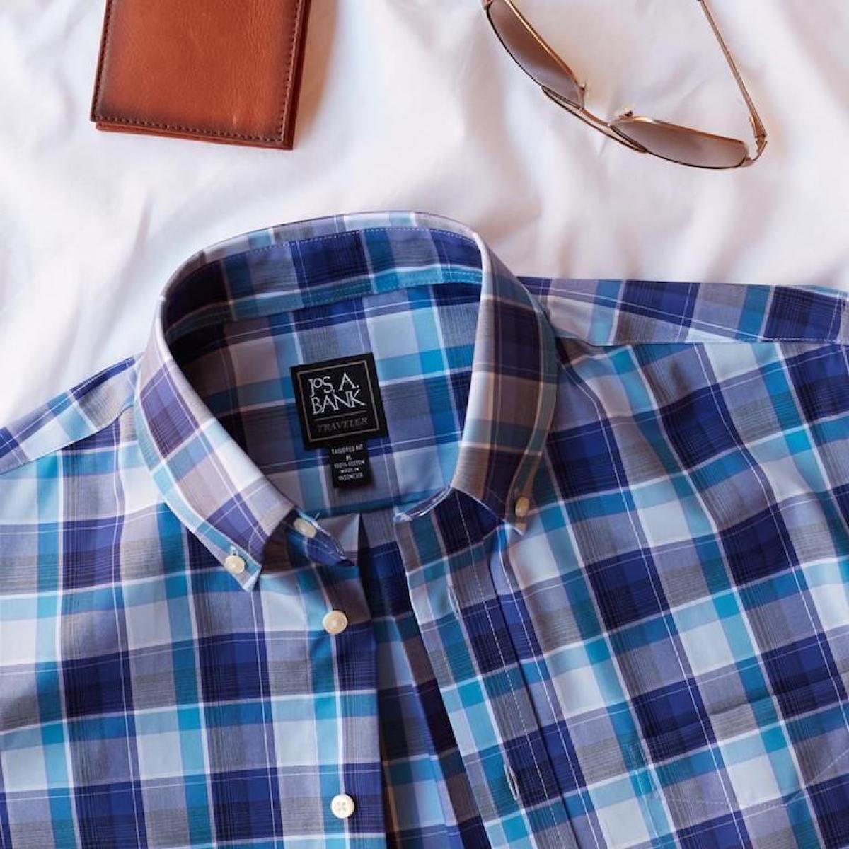 Jos. A. Bank Traveler Collection plaid shirt