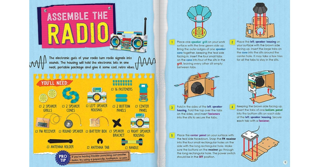 maker lab radio boombox insert
