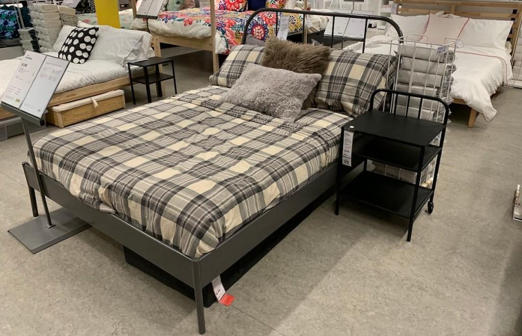 metal KOPARDAL bed frame in store