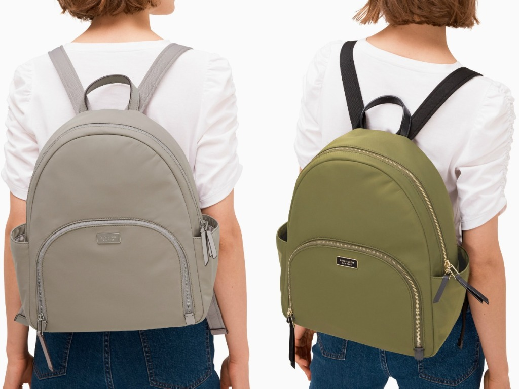 Kate Spade brand Large Backpacks on women in two colors