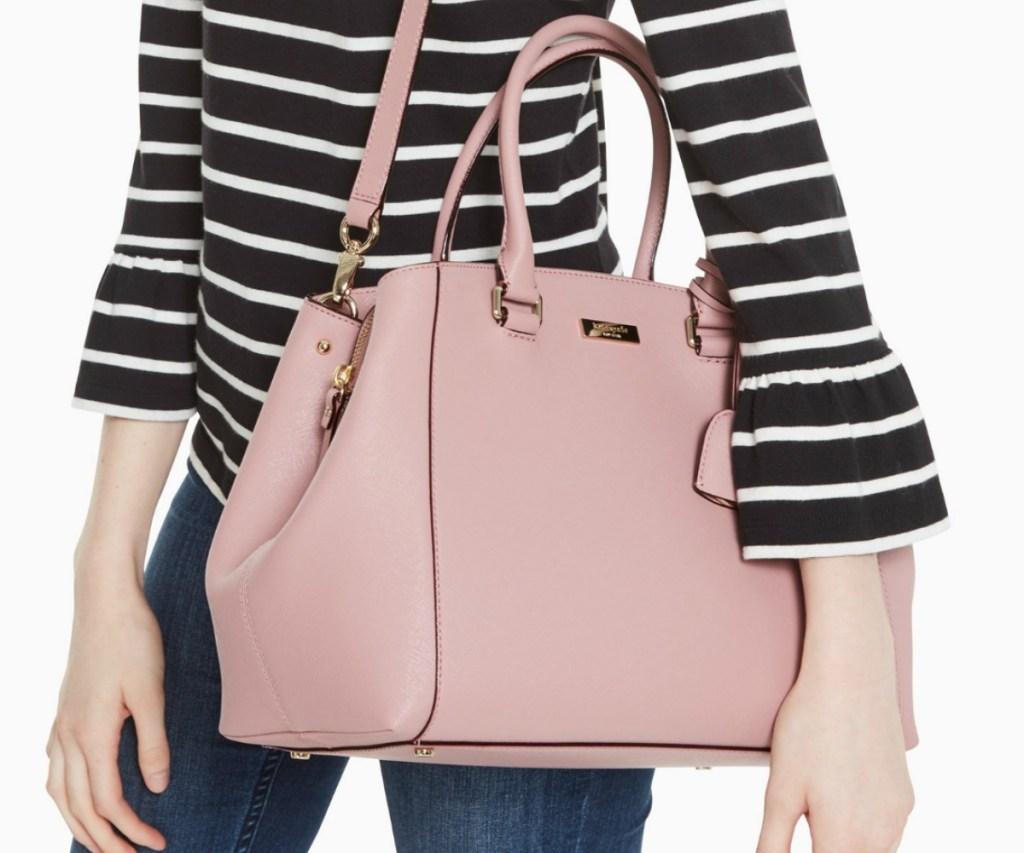 kate spade brand satchel style bag in pink color
