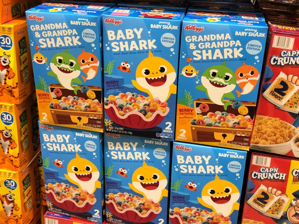 Kellogg's Baby Shark, Grandma & Grandpa Shark Cereal at sam's club