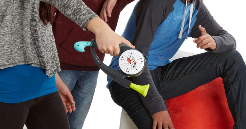 Kids playing with Bop It Game