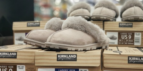 Kirkland Signature Sheepskin Slippers Only $22.99 at Costco   Compare to UGG