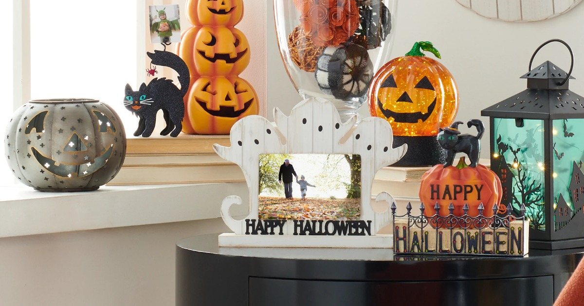 Display of Celebrate Halloween Together home decor