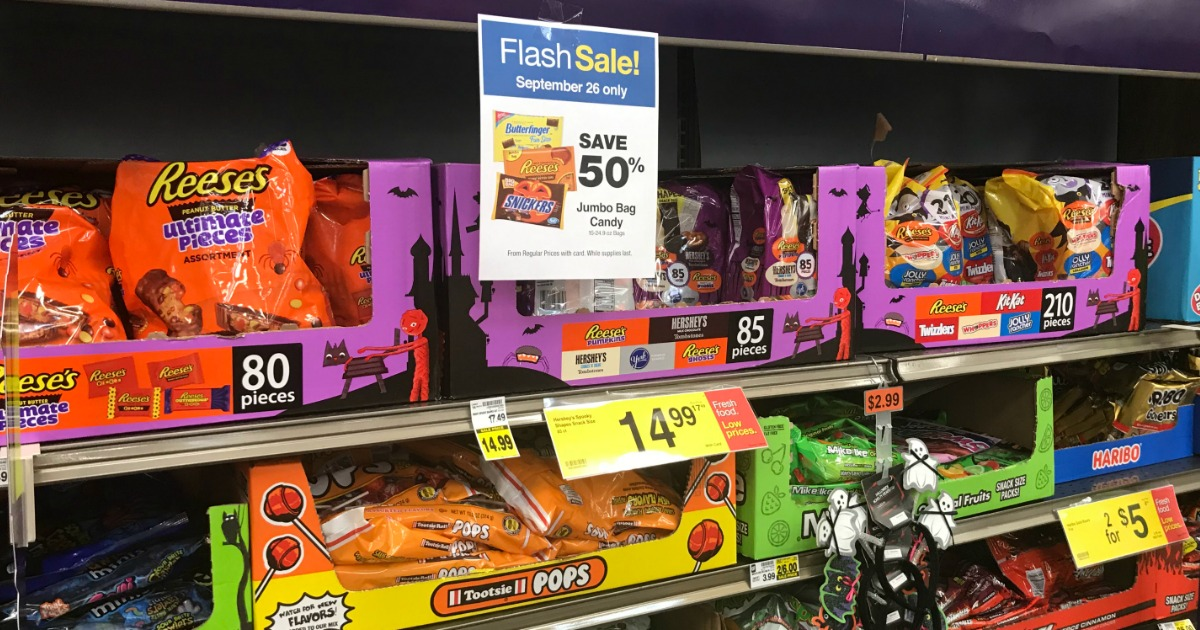 Kroger 50 Off Halloween Candy 2020 50% Off Halloween Candy Jumbo Bags at Kroger Stores (September