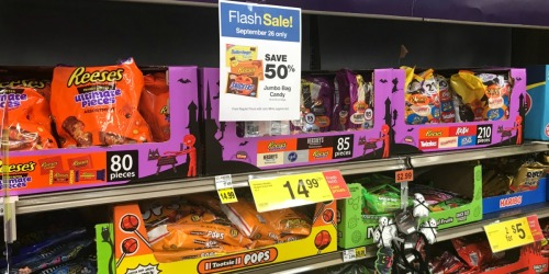 50% Off Halloween Candy Jumbo Bags at Kroger Stores (September 26th Only)