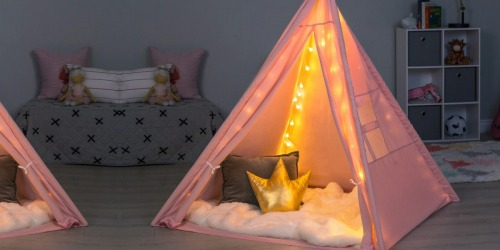 Kids Cotton Teepee w/ LED Lights Just $44.99 Shipped | Awesome Reviews