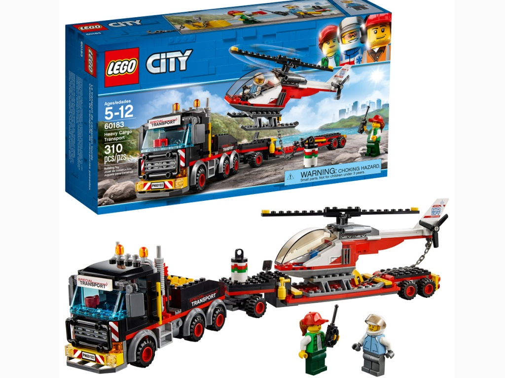 LEGO City Great Vehicles Heavy Cargo Transport Building Kit
