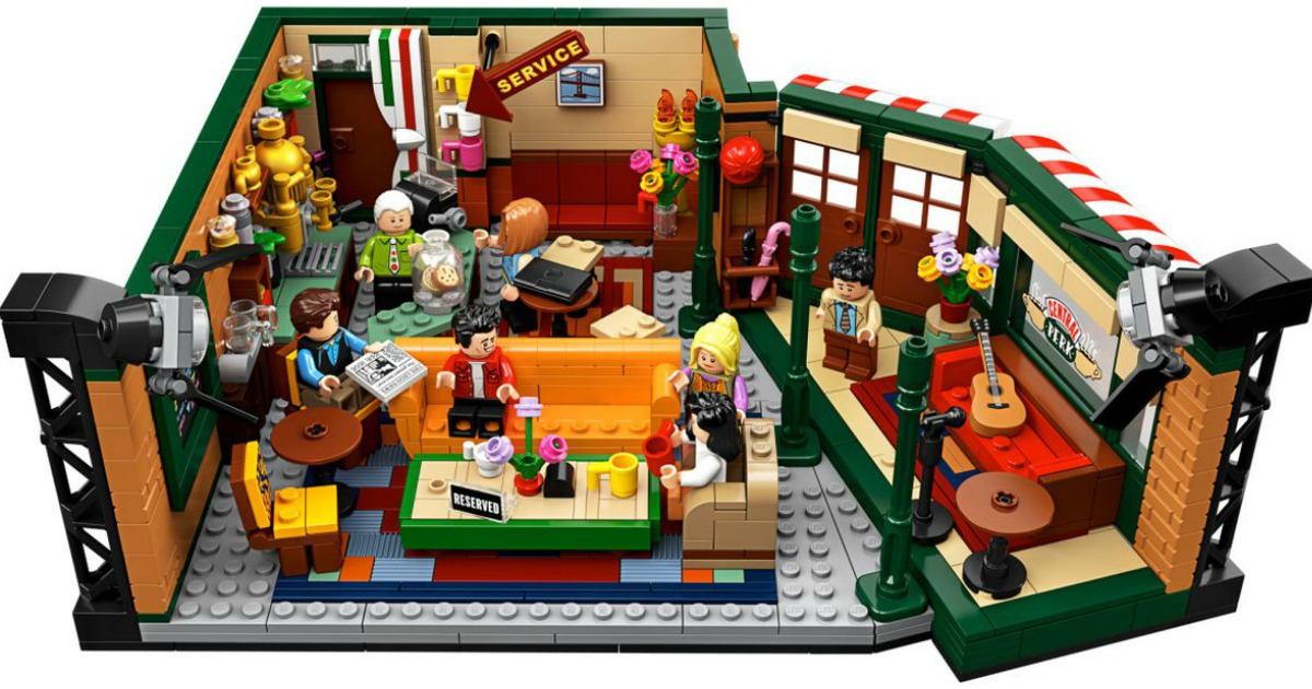 top view of LEGO Friends Central Perk Set