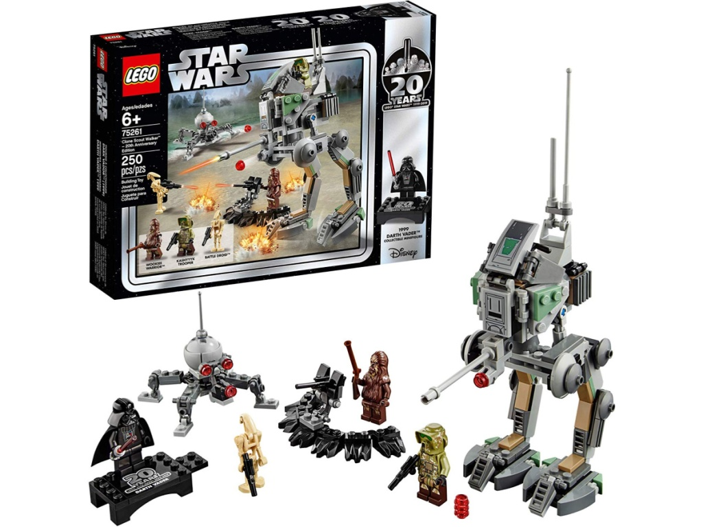 LEGO Star Wars 20th Anniversary Edition Clone Scout Walker 250-Piece Set with box and contents