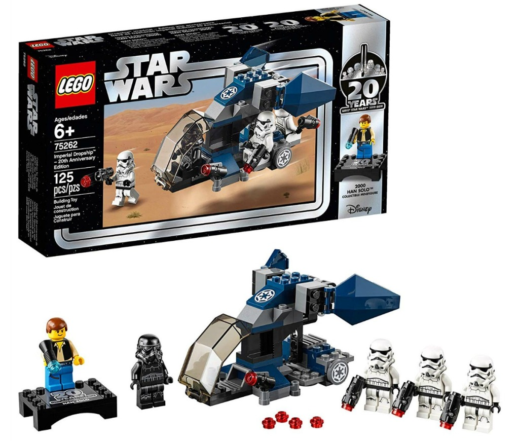 LEGO Star Wars 20th Anniversary Edition Imperial Dropship box and toys