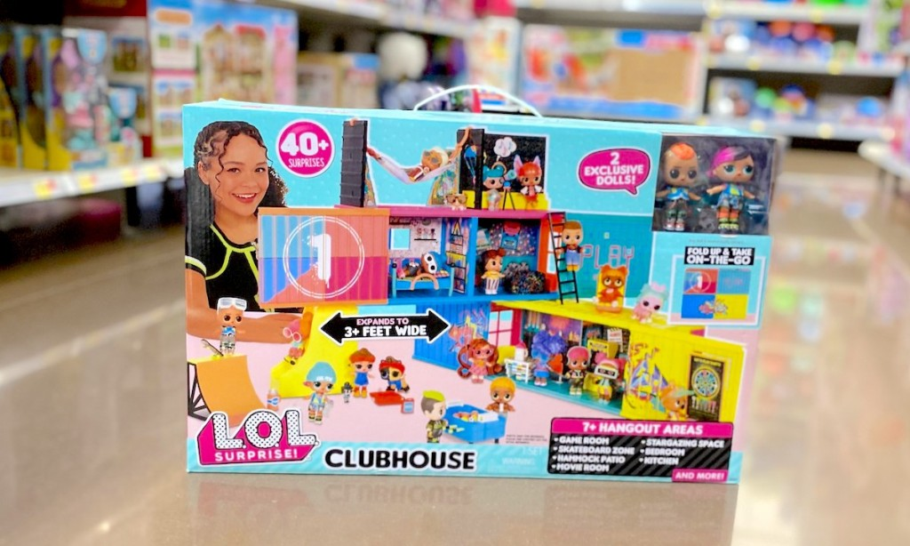 lol surprise doll clubhouse on store aisle floor from walmart christmas toy list
