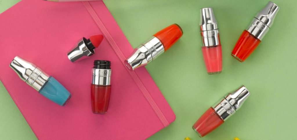 Varying shades of Lancome brand Juicy shaker
