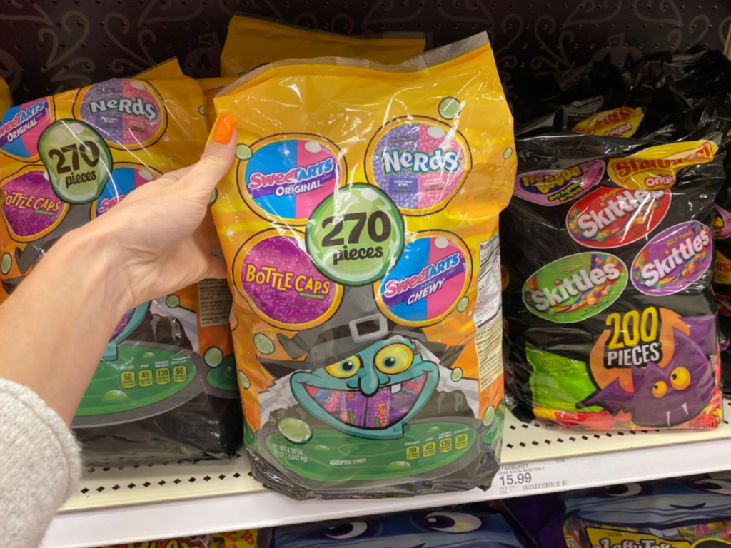 Large Halloween Nerds, sweethart and more bagged candy at target