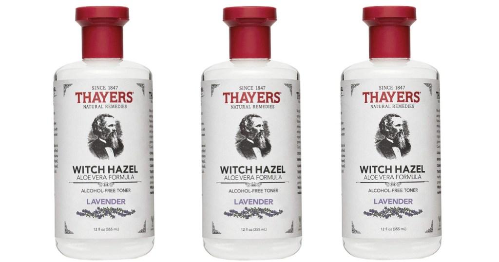 3 bottles of lavender witch hazel toner