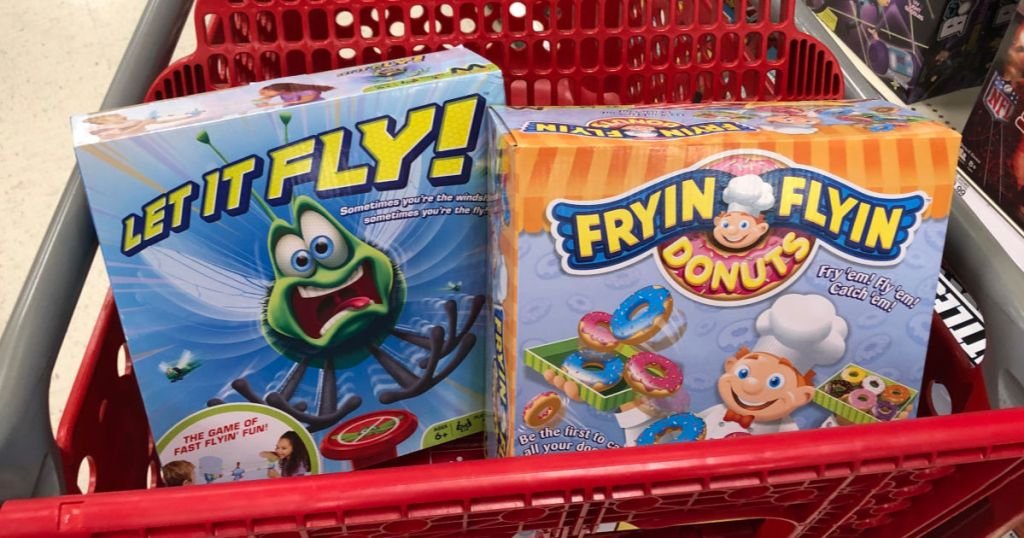 Let It Fly and Fryin Flyin Donuts in target cart