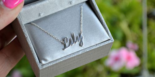 Zales Sterling Silver Script Name Necklace Only $17.99 (Regularly $60)