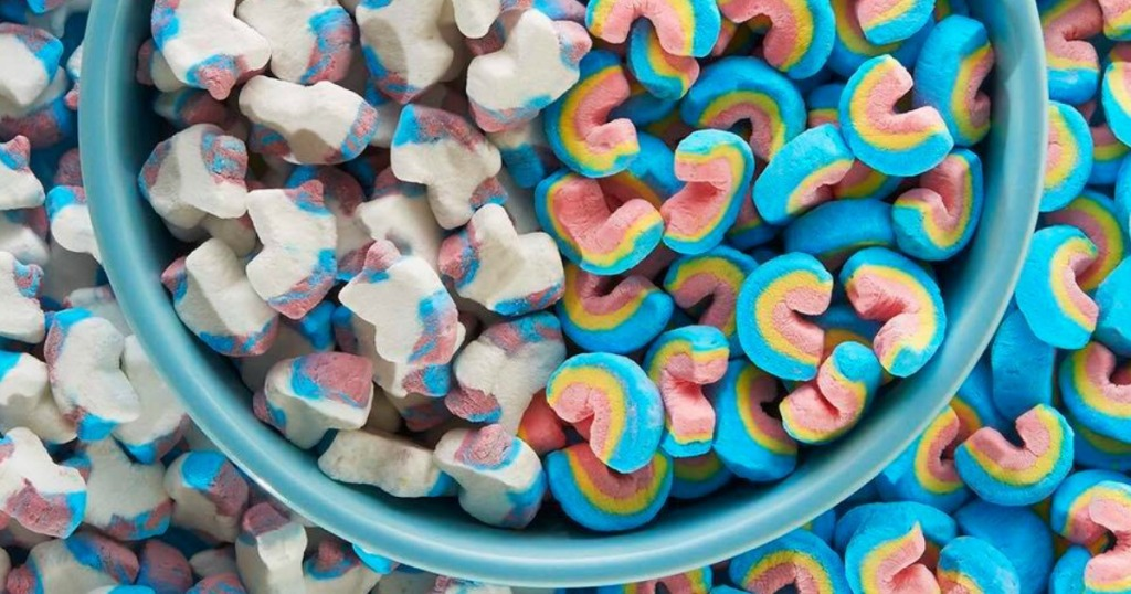 Bowl of Rainbow & Unicorn Lucky Charms Marshmallows