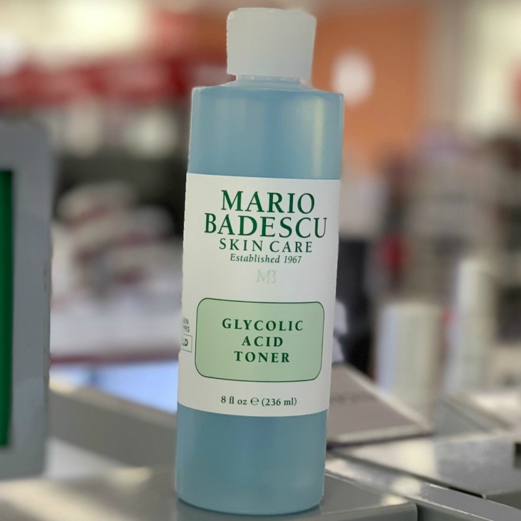 Mario Badescue Skin Care Toner in blue in store on shelf