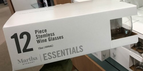 Martha Stewart 12-Piece Glassware Sets Only $9.99 at Macy's (Regularly $30)