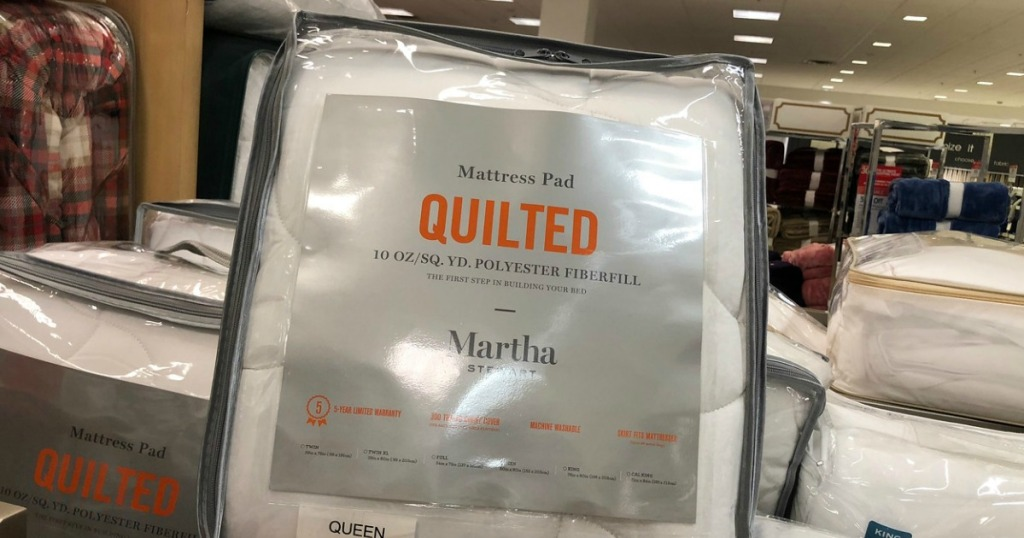 Martha Stewart quilted mattress pad