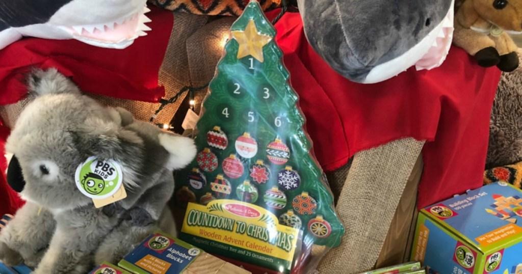 melissa and doug countdown to christmas wooden advent calendar