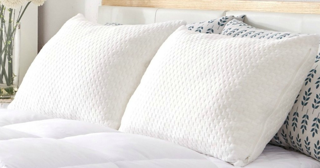 Memory Foam Pillows 2-pack on bed